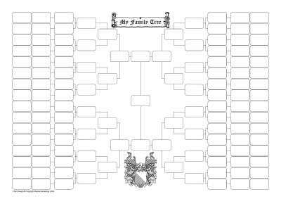 7 generation family tree template microsoft
